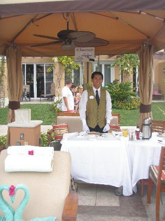 Beaches Turks and Caicos Resort Villages and Spa: Ahhh butler service!  Antonio