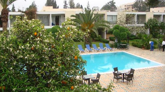 Hotel Volubilis: vue de la terrasse de la chambre