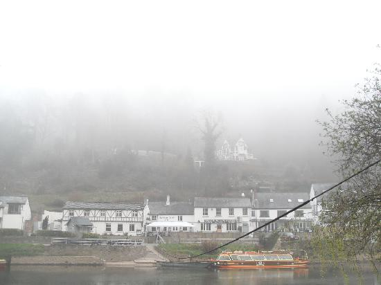 The Saracens Head Inn: View from across the river.