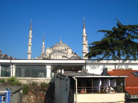 Hotel Seraglio: vue sur la mosquee bleue