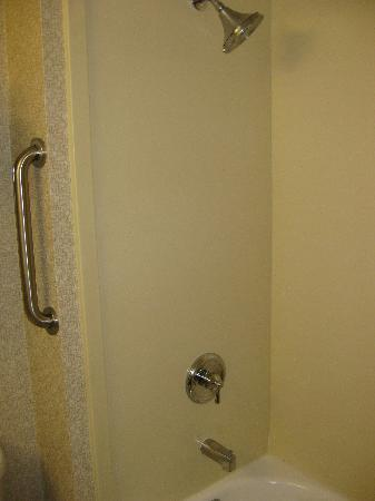 Holiday Inn Express San Francisco Airport-North: The nice shower with a handle to get in, but no handle to hold on to