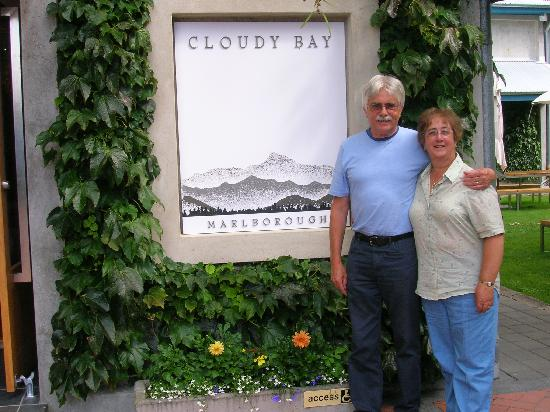 Cloudy Bay: after a couple glasses . . .