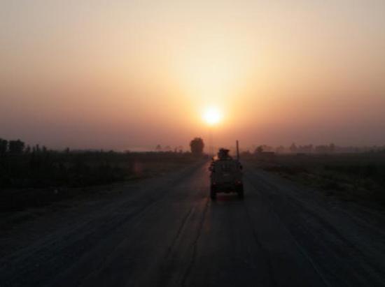 Balad, Iraq: driving off into the sunset