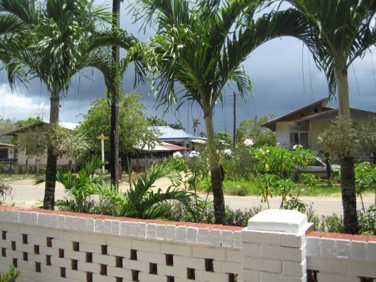 Paramaribo, Suriname: uitzicht huisje