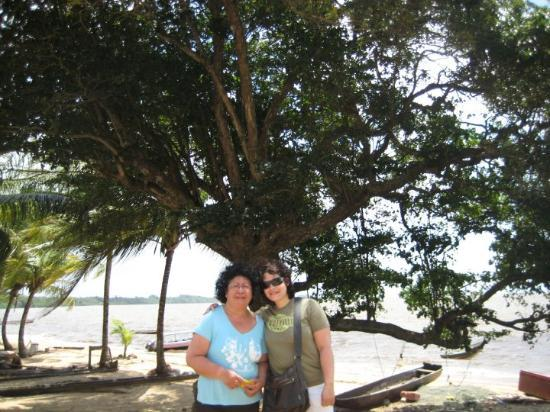 Paramaribo, Suriname: me and mum
