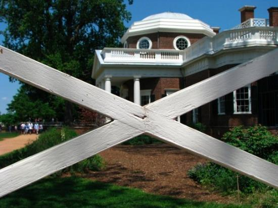 Thomas Jefferson's Monticello: Marks the spot