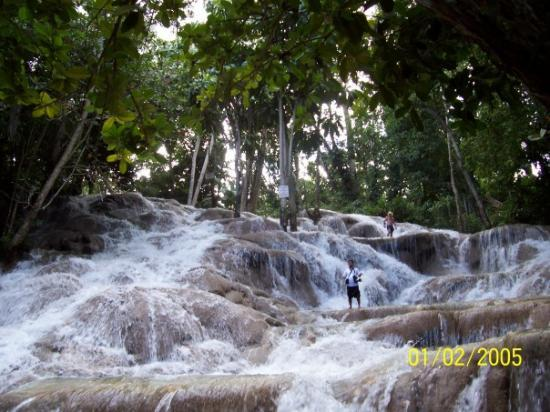 Jamaica: the falls.