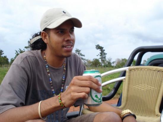 Bilwi, Nikaragua: Bro with his drink.