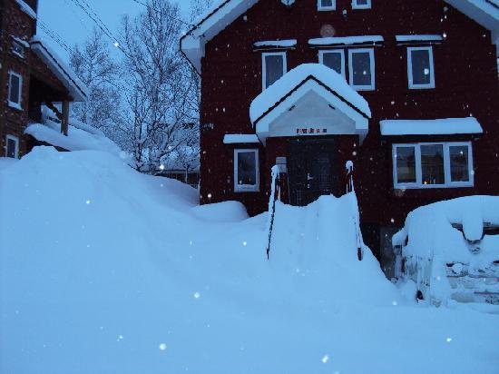The Red Ski House: snow