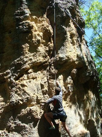 Lake Mineral Wells State Park Campground: rock climbing for the experts