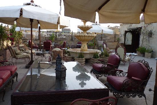 Le Riad Hotel de charme: Rooftop garden lounge