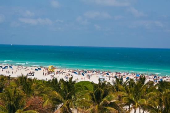 South Beach: view of the beach from our hotel