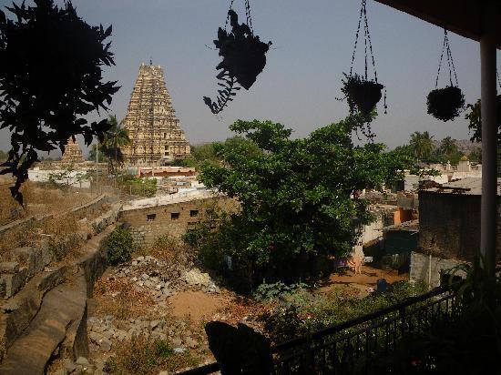 Padma Guest House: Vue depuis le balcon du deuxième étage