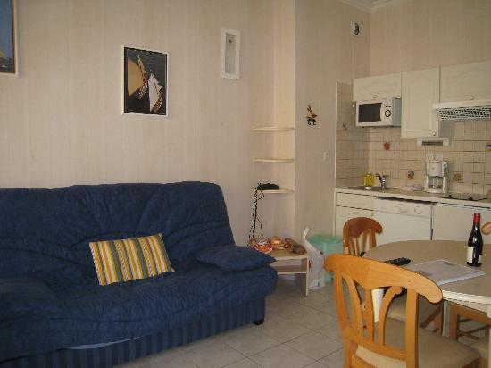 Residence de la Plage : Salon / salle à manger / cuisine