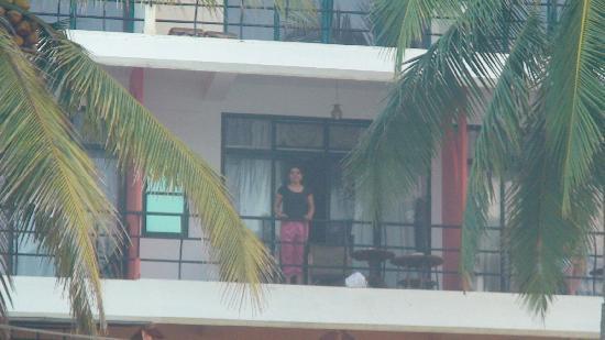 Kovalam Beach Retreat: view of hotel room from beach