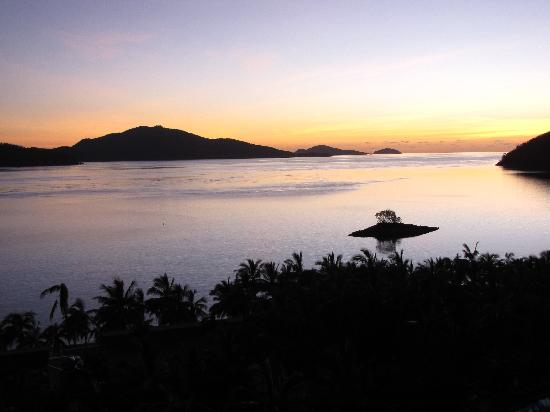 Reef View Hotel: Balcony at sundown