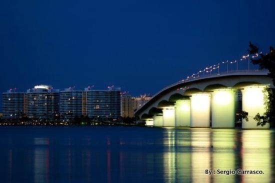 Marina Jacks Acrylic Print Featuring The Photograph Ringling Bridge Sarasota Fl By Michael Tesar