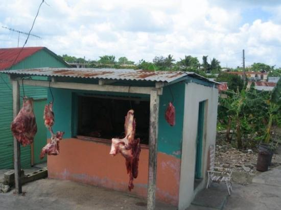 Higuey, Den Dominikanske Republik: Want to buy some meat??? No WONDER I was so sick