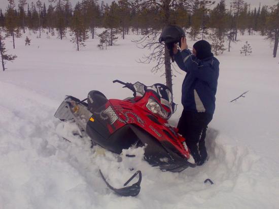 Kittila, Finland: Levin matkailua maaliskuun hangilla 2010