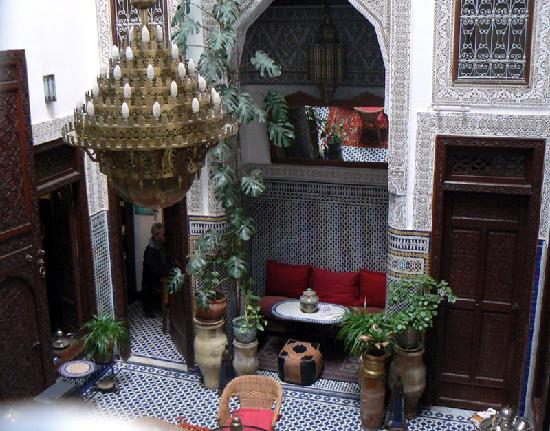 Riad Dar Cordoba: detalle del salón