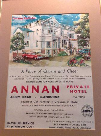 Annan Hotel : History of hotel