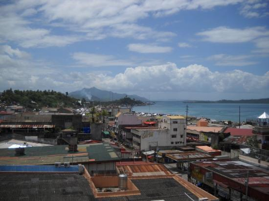 Hotel Canelsa : The view from our hotel room in Tacloban City.
