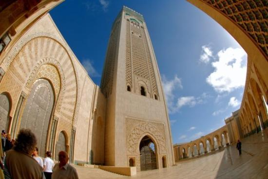 Hassan Mosque, Casablanca - outside view