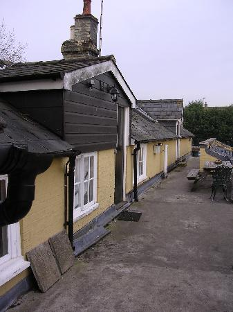 The Crown Inn, Linton : Back of hotel where rooms are located