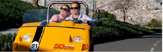 GoCar GPS Guided Tours : GoCar fun in Montjuic