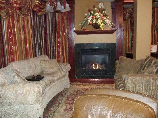 Collingwood, Canada: Living room fireplace
