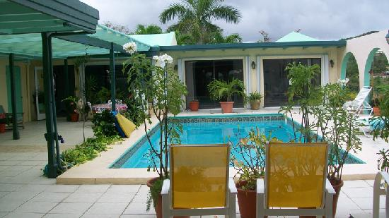 Carringtons Inn St. Croix: View of Pool Area and Main House