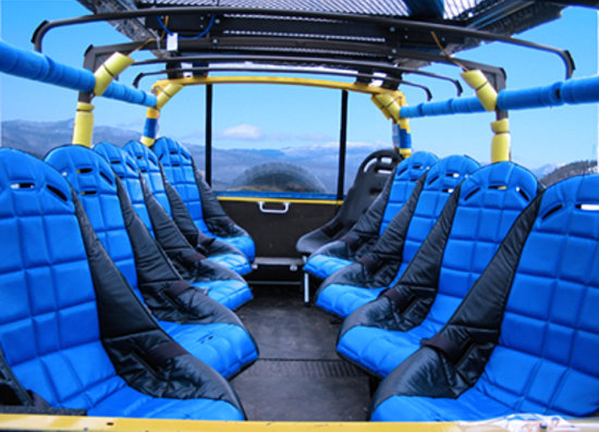 Линкольн, Нью-Гэмпшир: Bucket seating in the Pinz on the off road Safari tour
