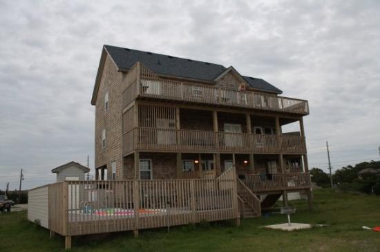 Back view of House at Pamlico Sound, Rodanthe, NC