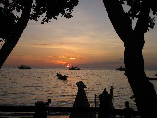 Sunset Buri Resort : sunset from the hotel pool