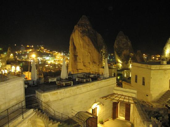 Vezir Cave Suites: View of Goreme from our balcony