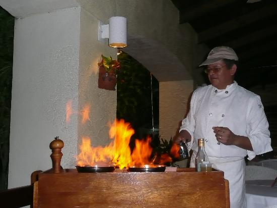 The Mount Nevis Hotel: Flambe' night @ the restaurant