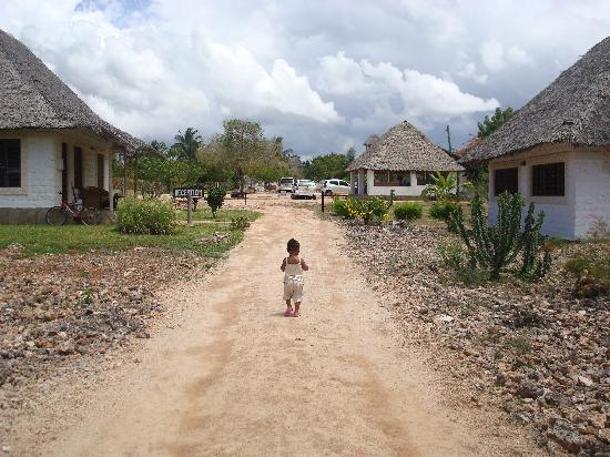 Simba + Oryx Beach Cottages: My daughter running to the beach