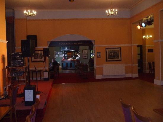 The Glenburn Hotel Ltd: looking down to the bar