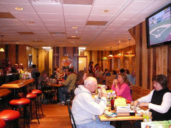 Lower level dining at Nicola Pizza On the Avenue