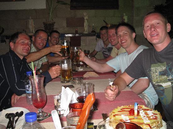 Restaurant Agalma : En middag på Agalma tillsammans med vänner från Rhodos.