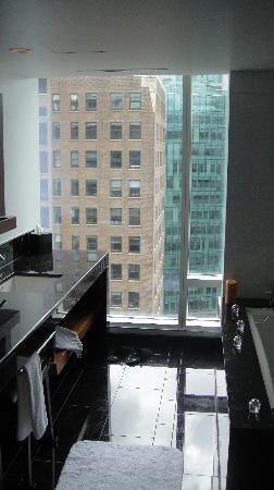 Fairmont Pacific Rim: View from Bathroom (windows are not tinted)