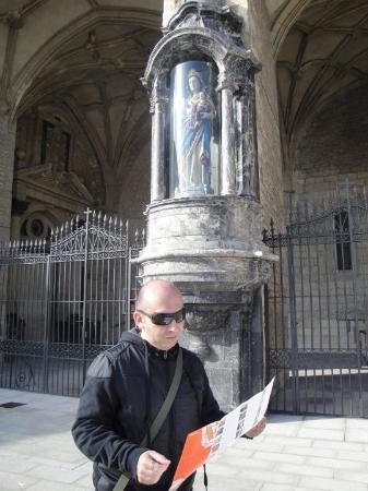 Vitoria-Gasteiz, Spain: Exterior de la Iglesia de San Miguel. Detalle.