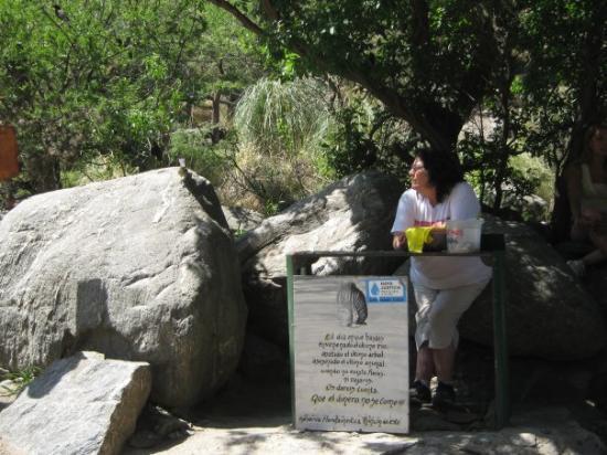 Reserva Natural de Merlo. Guarda Parque de la Prov. de San luis. Ella se ocupa de recuperar anim