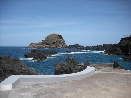 The natural volcanic pools in Porto Moniz - Madeira