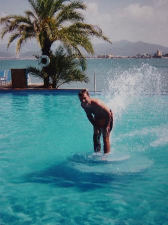 Barcelona, فنزويلا: Piscina de l'Hotel Punta Palma a Puerto La Cruz 16-11-94