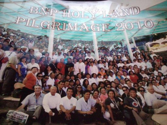 Sea of Galilee: B.N.P. Holyland Pilgrimage 2010 front n center