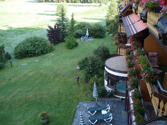 Thomahof: Vue depuis le balcon de la chambre