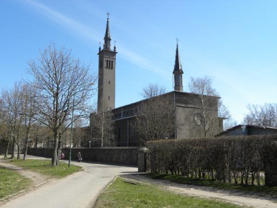 Klaipeda, Lithuania: LA CATEDRAL DE KLAPEDIA CON SU GIRALDA,JEJEJ