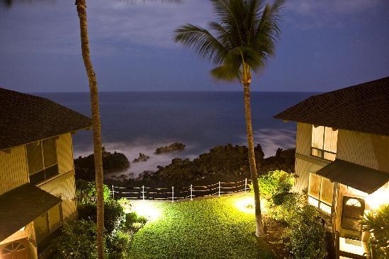 Kanaloa at Kona: Ocean View room (night shot)
