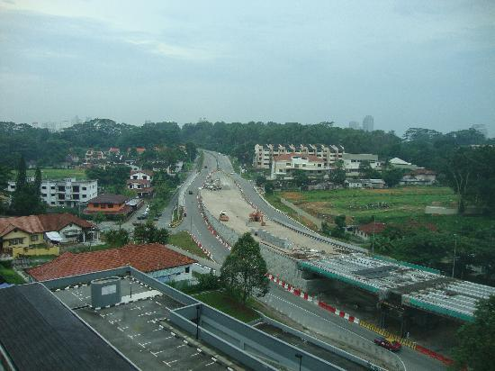 Thistle Johor Bahru: Room view 1 and new highway